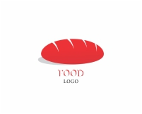 Vector Food Red Dulet Bread Cup Logo
