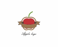 Vector Food Ribbon Apple Cups Logo